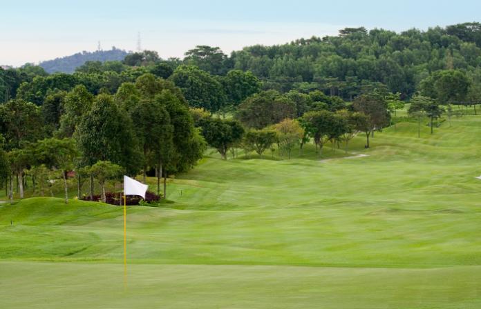 A golf course in Kuala Lumpur