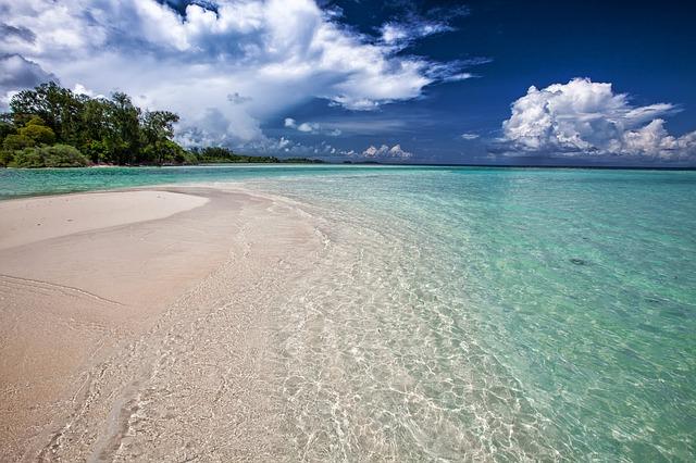 White Sand Beach in Indonesia